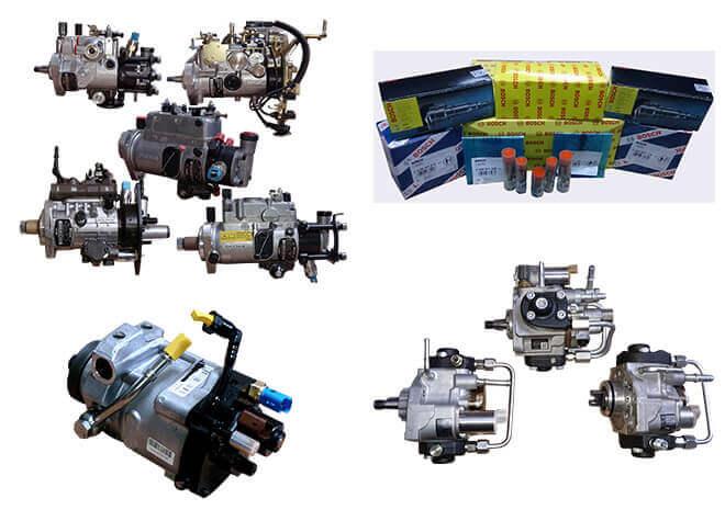 A range of car parts